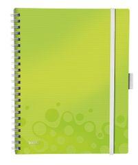 Blok mobilní Leitz WOW A4 linkovaný metalicky zelený