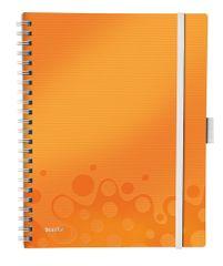 Blok mobilní Leitz WOW A4 čtverečkovaný metalicky oranžový