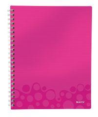 Blok organizační Leitz WOW A4 čtverečkovaný metalicky růžový