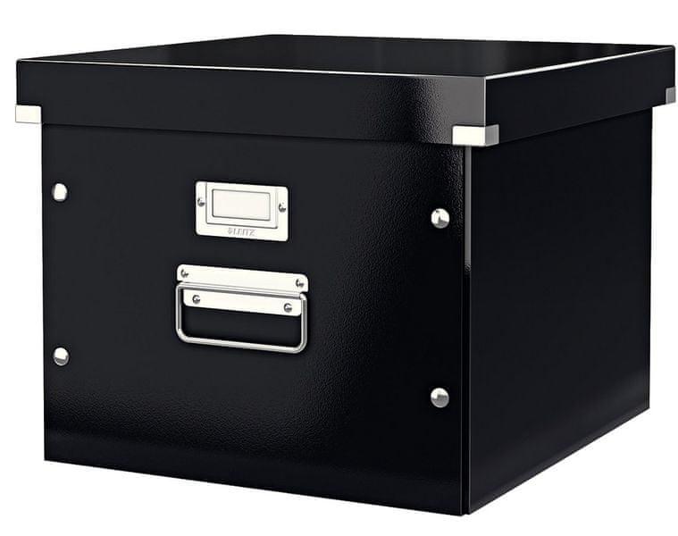 Krabice CLICK-N-STORE na závěsné desky, černá