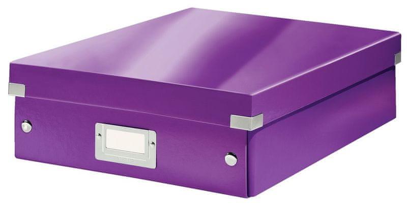 Krabice CLICK-N-STORE WOW střední organizační, purpurová