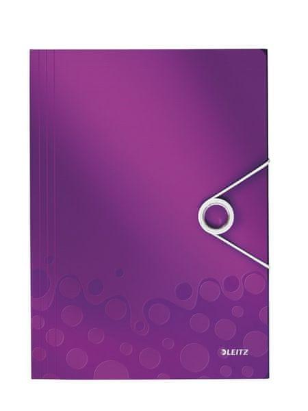 Desky na spisy Leitz WOW purpurové