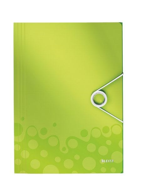 Desky na spisy Leitz WOW metalicky zelené