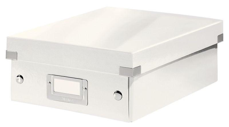 Krabice CLICK-N-STORE WOW malá organizační, bílá