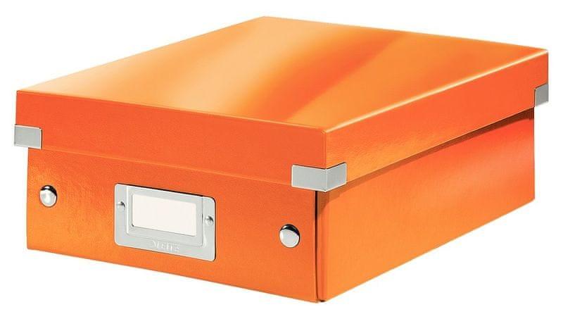 Krabice CLICK & STORE WOW malá organizační, oranžová