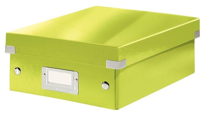 Krabice CLICK & STORE WOW malá organizační, zelená