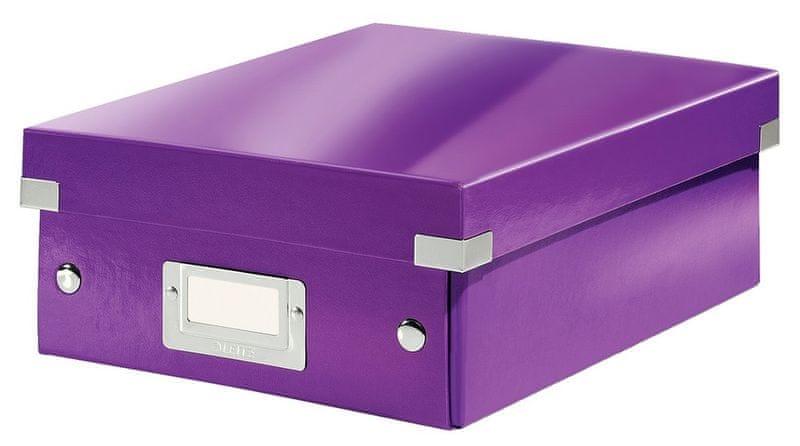 Krabice CLICK-N-STORE WOW malá organizační, purpurová