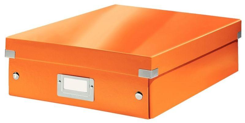 Krabice CLICK & STORE WOW střední organizační, oranžová