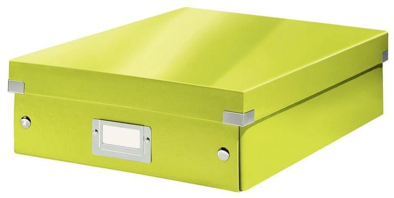 Krabice CLICK-N-STORE WOW střední organizační, zelená