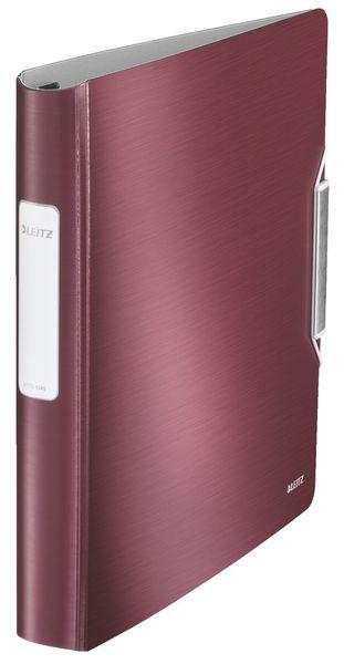 Mobilní kroužkový pořadač 4xD kroužky Leitz ACTIVE Style 5,2 cm granátově červený