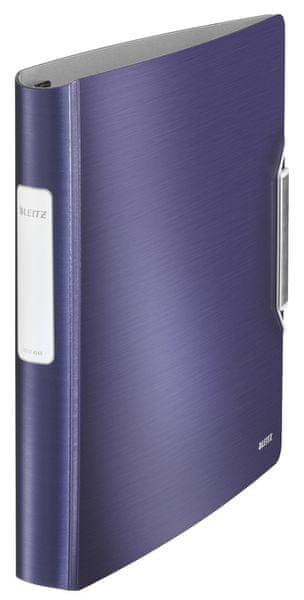 Mobilní kroužkový pořadač 4xD kroužky Leitz ACTIVE Style 5,2 cm titanově modrý