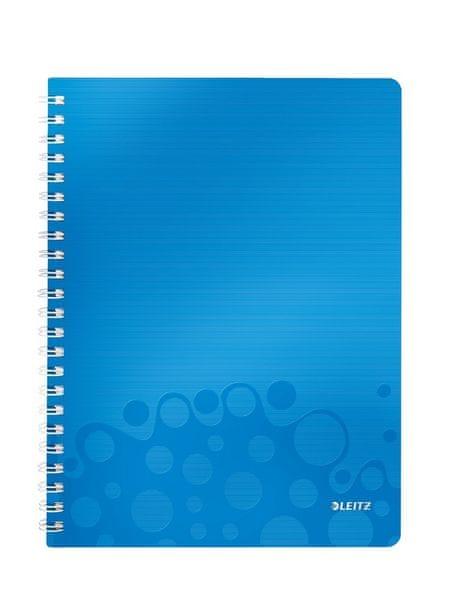 Blok na psaní Leitz WOW A4 linkovaný metalicky modrý