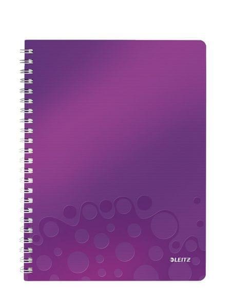 Blok na psaní Leitz WOW A4 linkovaný purpurový