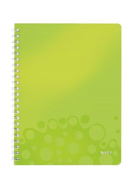 Blok na psaní Leitz WOW A4 linkovaný metalicky zelený