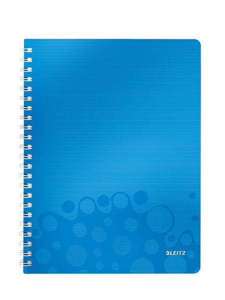 Blok na psaní Leitz WOW A4 čtverečkovaný metalicky modrý