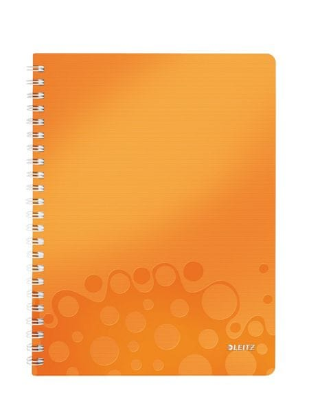 Blok na psaní Leitz WOW A4 čtverečkovaný metalicky oranžový