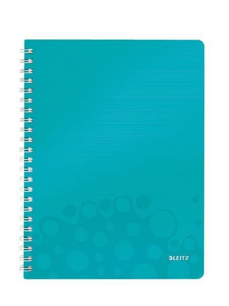 Blok na psaní Leitz WOW A4 čtverečkovaný ledově modrý