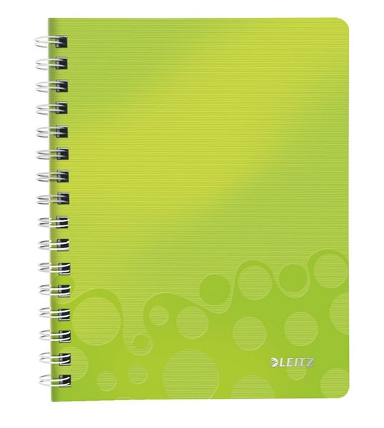 Blok na psaní Leitz WOW A5 linkovaný metalicky zelený
