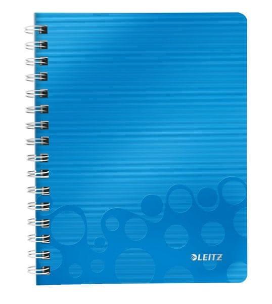 Blok na psaní Leitz WOW A5 čtverečkovaný metalicky modrý