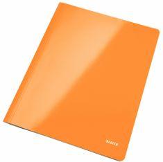Leitz Desky s rychlovazačem WOW A4 metalicky oranžové