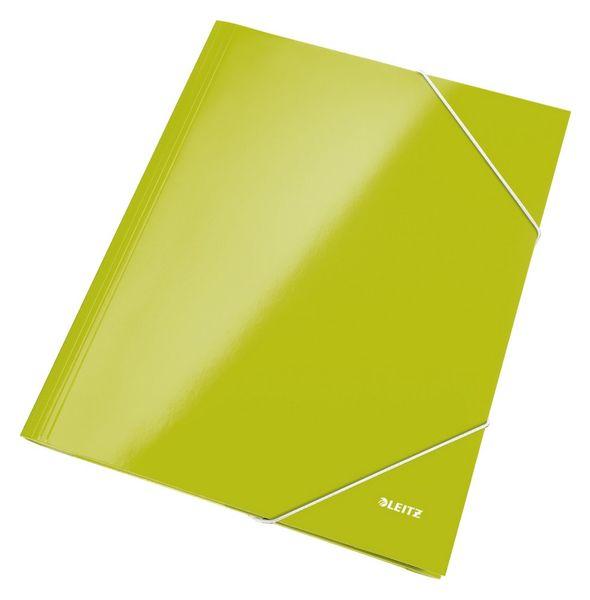Mapa odkládací se 3 klopami Leitz WOW A4 zelená
