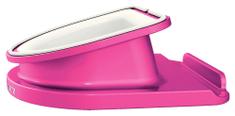 Leitz Otočný stojánek Complete WOW pro iPad/tablet PC metalický růžový