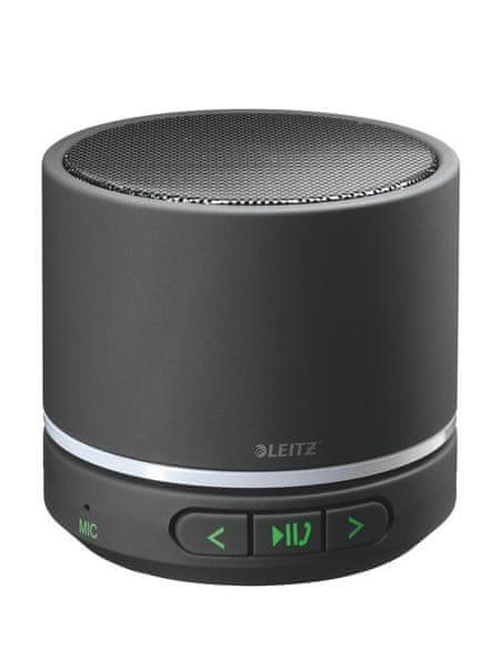 Přenosný mini Bluetooth reproduktor s mikrofonem Leitz Complete černý