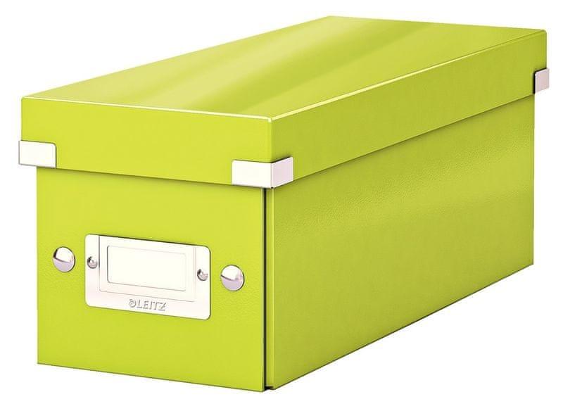 Krabice CLICK & STORE WOW na CD, zelená