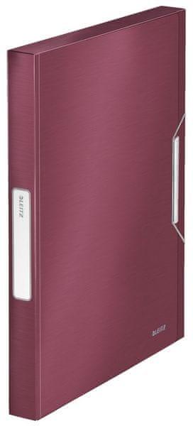 Box na spisy Leitz Style granátově červený