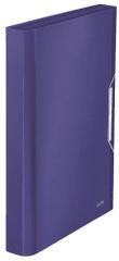Aktovka s přihrádkami Leitz Style titanově modrá
