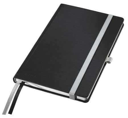 Leitz Zápisník Style A5 tvrdé desky linkovaný saténově černý