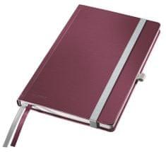 Zápisník Leitz Style A5 tvrdé desky linkovaný granátově červený