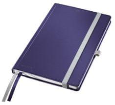 Zápisník Leitz Style A5 tvrdé desky čtverečkovaný titanově modrý