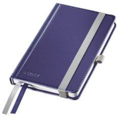 Zápisník Leitz Style A6 tvrdé desky čtverečkovaný titanově modrý