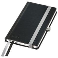 Zápisník Leitz Style A6 tvrdé desky čtverečkovaný saténově černý