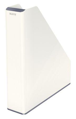 Stojan na časopisy dvoubarevný Leitz WOW šedý/bílý