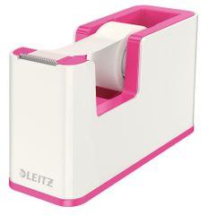 Odvíječ lepicí pásky Leitz WOW růžový/bílý