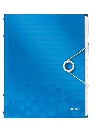 Leitz Rozdružovací kniha WOW 12ti dílná metalicky modrá