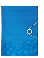 Aktovka s přihrádkami Leitz WOW metalicky modrá