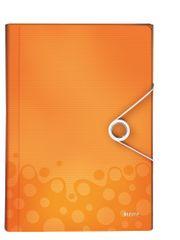 Aktovka s přihrádkami Leitz WOW metalicky oranžová