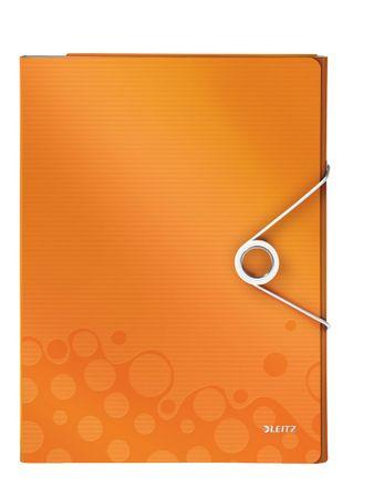 Organizér na dokumenty Leitz WOW metalicky oranžový