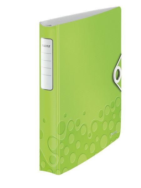Mobilní kroužkový pořadač 4xD kroužky Leitz ACTIVE WOW 5,2 cm metalický zelený