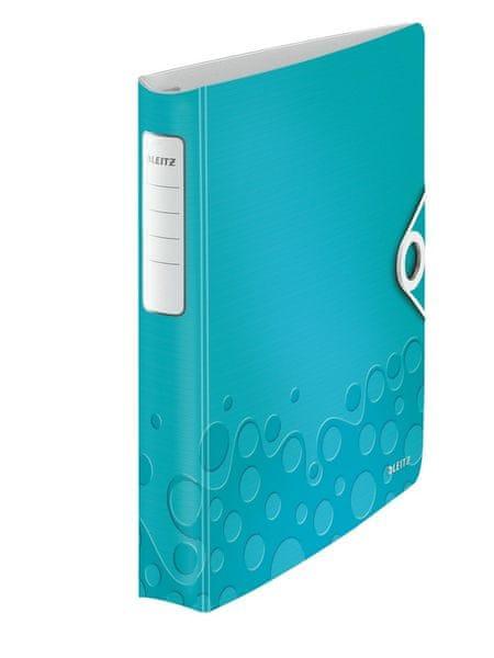 Mobilní kroužkový pořadač 4xD kroužky Leitz ACTIVE WOW 5,2 cm ledově modrý