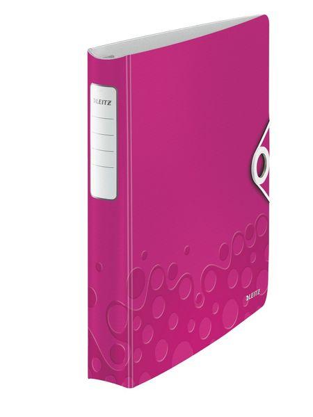 Mobilní kroužkový pořadač 4xD kroužky Leitz ACTIVE WOW 5,2 cm metalický růžový