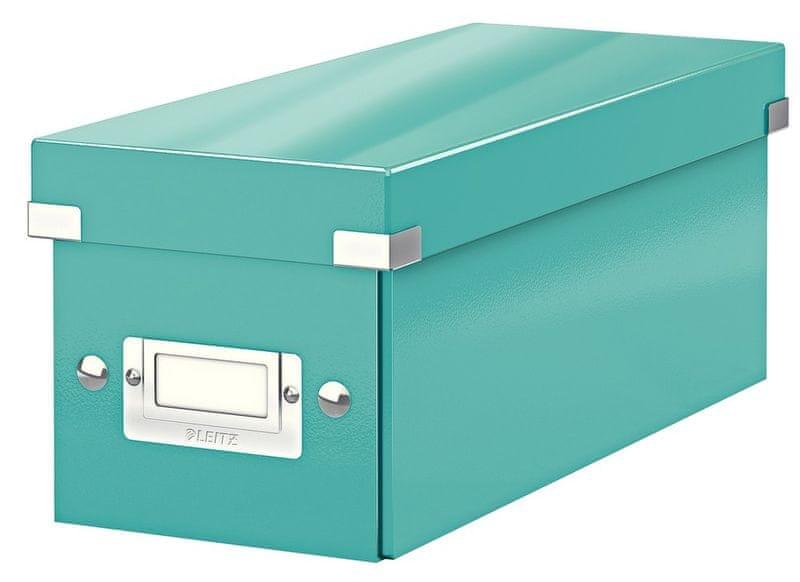 Krabice CLICK & STORE WOW na CD, led. modrá