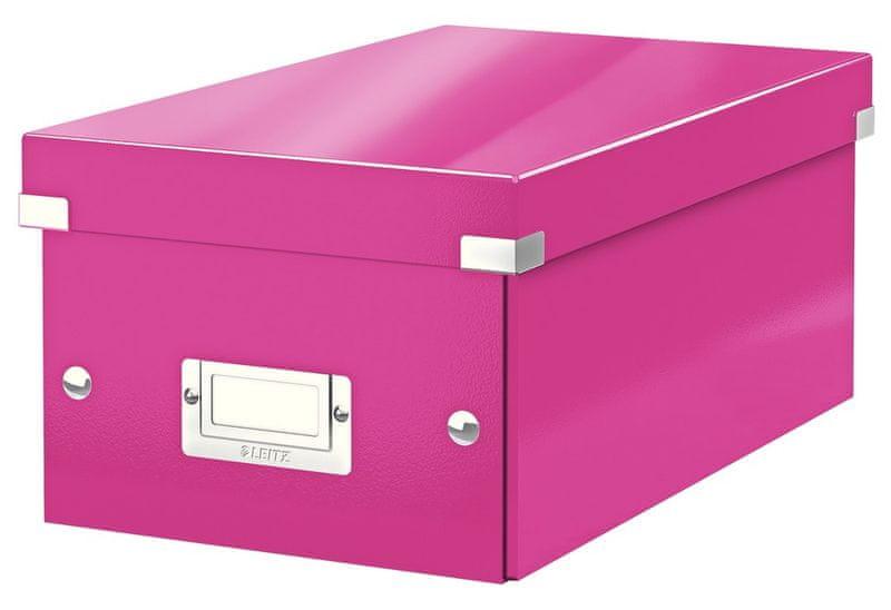 Krabice CLICK-N-STORE na DVD, růžová
