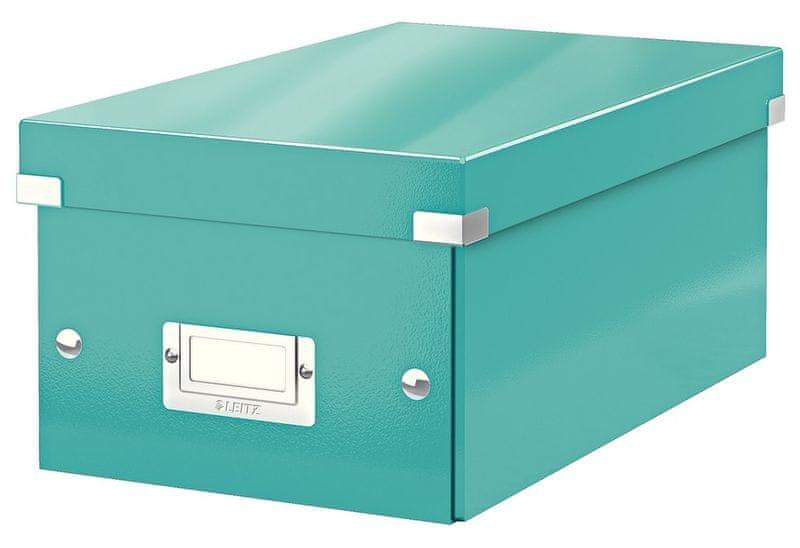 Krabice CLICK & STORE na DVD, led. modrá
