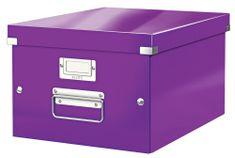 Krabice CLICK & STORE WOW střední archivační, purpurová