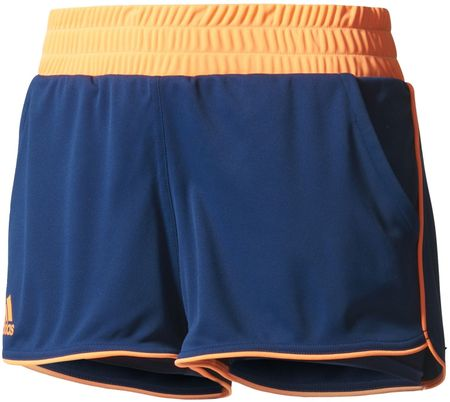 Adidas spodenki Court Short Mystery Blue /Glow Orange S