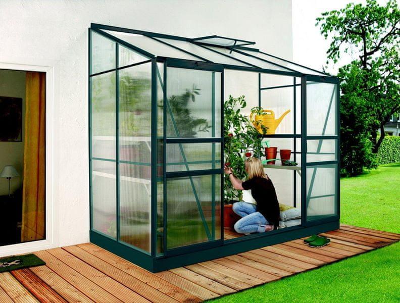 VITAVIA skleník VITAVIA IDA 3300 matné sklo 4 mm zelený